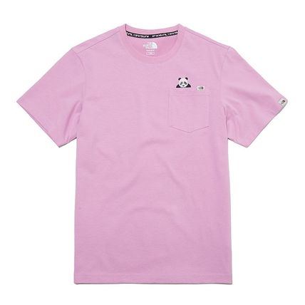 THE NORTH FACE More T-Shirts Unisex Street Style Plain Other Animal Patterns Cotton 2