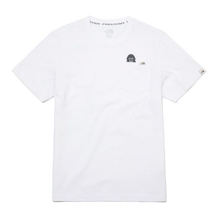THE NORTH FACE More T-Shirts Unisex Street Style Plain Other Animal Patterns Cotton 17