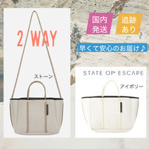State of Escape Casual Style 2WAY Plain Elegant Style Shoulder Bags
