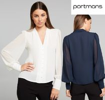 Portmans Long Sleeves Office Style Shirts & Blouses