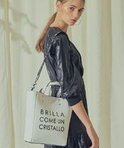 BBYB Casual Style Faux Fur 3WAY Plain Totes