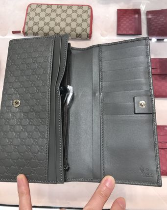 GUCCI Leather Long Wallet  Long Wallets