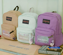 jansport Casual Style Unisex Street Style A4 Bi-color Plain Logo