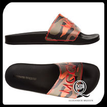 McQ Camouflage Bi-color Plain Shower Shoes Shower Sandals