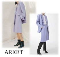 ARKET Casual Style Wool Plain Medium Oversized Culottes