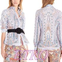 ETRO Flower Patterns Tropical Patterns Casual Style Long Sleeves