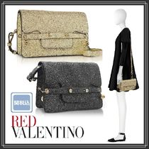 RED VALENTINO 2WAY Plain Leather Party Style Elegant Style Shoulder Bags