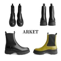 ARKET Round Toe Rubber Sole Casual Style Street Style Plain