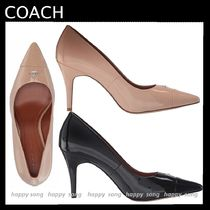 Coach Plain Leather Office Style Pointed Toe Pumps & Mules