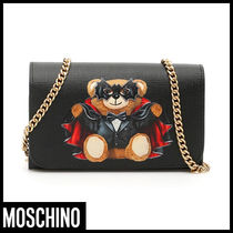 Moschino Casual Style Street Style Plain Bags