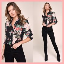 Lipsy Flower Patterns Long Sleeves Medium Party Style