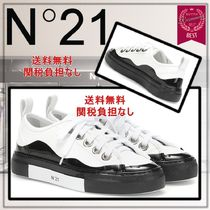 N21 numero ventuno Round Toe Rubber Sole Lace-up Casual Style Blended Fabrics