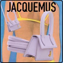 JACQUEMUS Casual Style Plain Leather Tribal Shoulder Bags