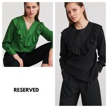 RESERVED Lace-up Plain Shirts & Blouses