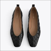 Uterque Casual Style Plain Leather Elegant Style Pumps & Mules