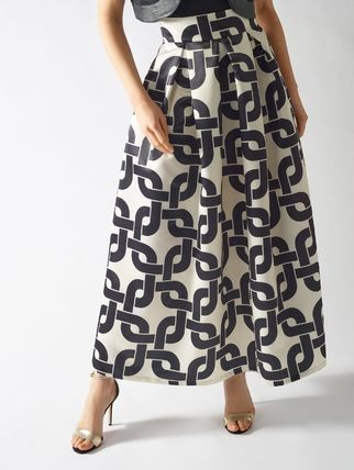 Casual Style Long Office Style Elegant Style Maxi Skirts