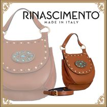 Rinascimento Casual Style 2WAY Plain Leather Shoulder Bags