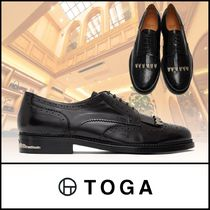 TOGA Wing Tip Plain Leather Oxfords