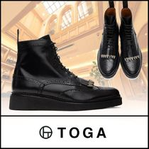 TOGA Wing Tip Plain Leather Chukkas Boots
