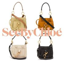 See by Chloe Plain Leather Shoulder Bags