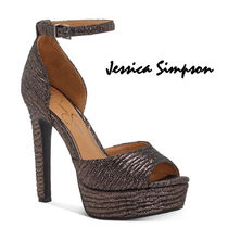 Jessica Simpson Open Toe Platform Casual Style Suede Pin Heels Party Style