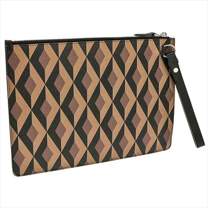 Leather Logo Clutches
