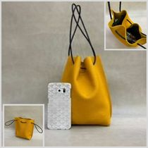 Casual Style Plain Leather Purses Bucket Bags