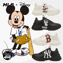 MLB Korea Unisex Faux Fur Street Style Other Animal Patterns Sneakers