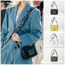 BBYB Casual Style Faux Fur Street Style Plain Shoulder Bags