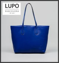 Lupo Barcelona Casual Style Unisex A4 Plain Other Animal Patterns Leather