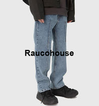 Raucohouse Plain Oversized Jeans