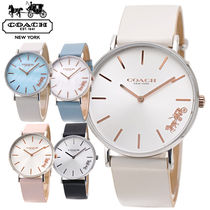 Coach Leather Analog Watches