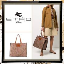 ETRO Paisley Casual Style A4 2WAY Leather Office Style