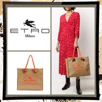 ETRO Casual Style Canvas A4 2WAY Plain Office Style Elegant Style