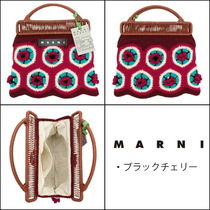 MARNI MARNI MARKET Tropical Patterns Unisex Street Style Vanity Bags Bridal