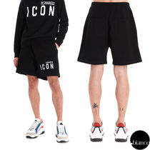 D SQUARED2 Sweat Street Style Cotton Joggers Shorts