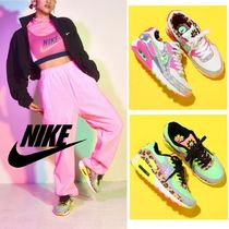 Nike AIR MAX 90 Blended Fabrics Logo Low-Top Sneakers