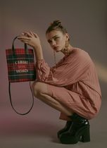 BBYB Tartan Other Check Patterns Casual Style Unisex Faux Fur