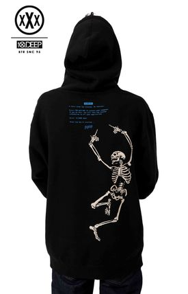 Pullovers Skull Street Style Long Sleeves Hoodies