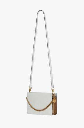 GIVENCHY 2WAY 3WAY Bi-color Plain Leather Logo Party Bags