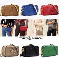 Tory Burch PERRY Casual Style Vanity Bags Plain Leather Party Style