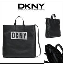 DKNY Casual Style Faux Fur 2WAY Totes