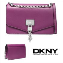 DKNY Casual Style Leather Party Style Elegant Style Shoulder Bags