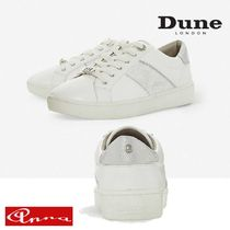 Dune LONDON Round Toe Lace-up Casual Style Street Style Bi-color Plain