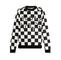 Louis Vuitton DAMIER Crew Neck Unisex Nylon Street Style Long Sleeves Cotton