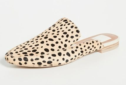 Leopard Patterns Plain Toe Casual Style Office Style