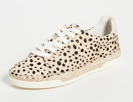Leopard Patterns Rubber Sole Casual Style Office Style
