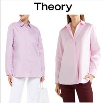 Theory Casual Style Long Sleeves Cotton Medium Party Style