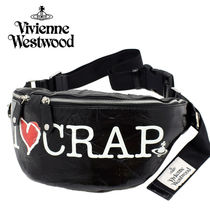 Vivienne Westwood Heart Casual Style Street Style 2WAY Leather Hip Packs