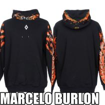 Marcelo Burlon Pullovers Sweat Street Style Long Sleeves Cotton Hoodies